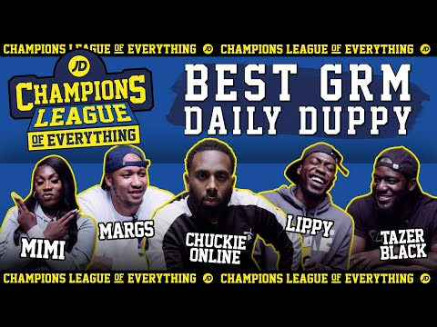 jdsports.co.uk & JD Sports Voucher Code video: WHO HAS THE BEST EVER GRM DAILY DUPPY????   CHAMPIONS LEAGUE OF EVERYTHING