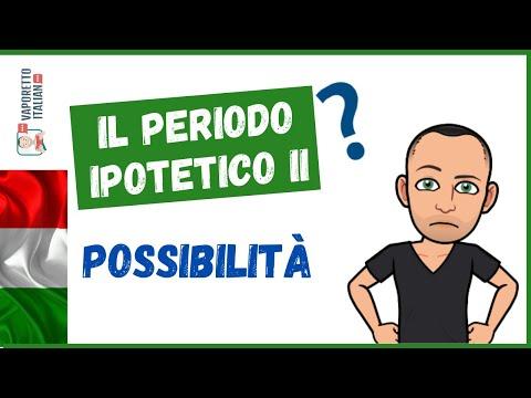 Il PERIODO IPOTETICO DELLA POSSIBILITÀ (periodo ipotetico II) | Impara l'italiano con Francesco
