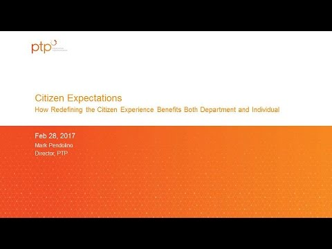 """GTI2017 Sn10b: Citizen Expectations of """" Self Service"""" - PTP"""
