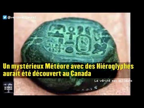 nouvel ordre mondial | ★ Un mystérieux Météore avec des Hiéroglyphes aurait été découvert au Canada