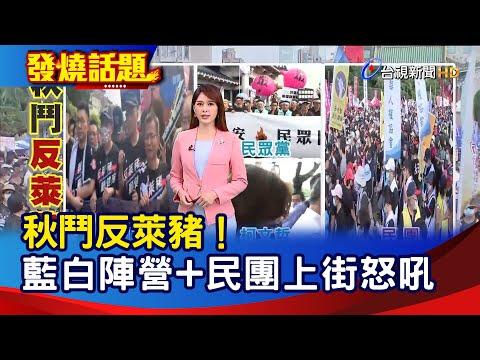 秋鬥反萊豬!藍白陣營+民團上街怒吼【發燒話題】-20201122