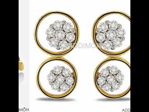 beautiful diamond earring