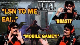 DrDisrespect ROASTS Respawn & EA on Star Wars Jedi: Fallen Order Graphics! (E3 Gameplay)