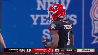 George Pickens vs Cincinnati 2021 Chick-fil-A Bowl - Playmaker