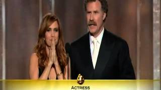 Jennifer Lawrence wins Best Actress (Comedy or Musical) Golden Globes 2013