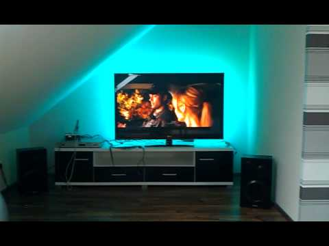 ambilight selber bauen led hintergrundbeleuchtung f r den tv youtube. Black Bedroom Furniture Sets. Home Design Ideas