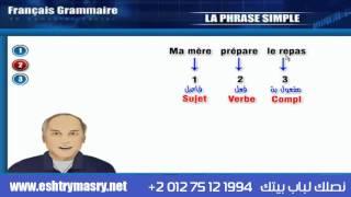 تعليم اللغة الفرنسية شرح قواعد الجملة البسيطة