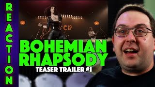 REACTION! Bohemian Rhapsody Teaser Trailer #1 - Rami Malek Queen Movie 2018