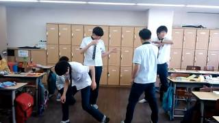Korean Students Dance In The Classroom