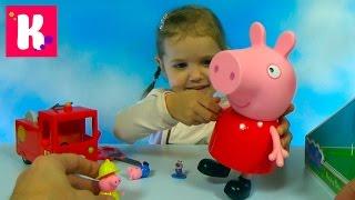 Свинка Пеппа гигант распаковка сюрпризов игрушки и