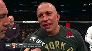 UFC 217: Georges St-Pierre and Michael Bisping Octagon Interviews