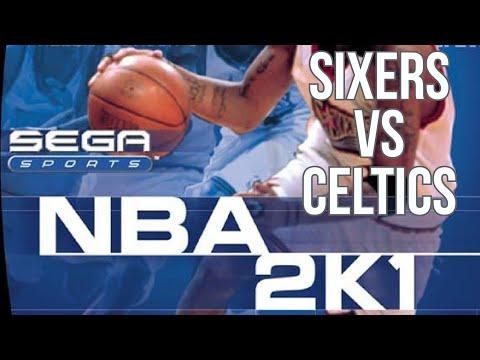 NBA 2K1 (2000) - Dreamcast - Sixers vs Celtics