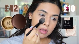 LUXURY LOOSE POWDER VS DRUGSTORE  | SAVE YOUR MONEY