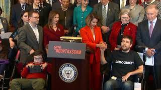 WATCH: Rep. Pelosi discusses GOP tax bill