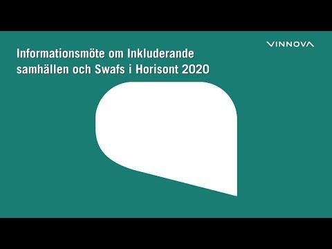 Informationsmöte om Inkluderande samhällen och Swafs i Horisont 2020