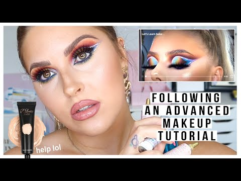 i tried following a P LOUISE makeup tutorial 😲 too advanced for me