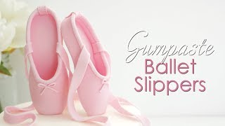 How to make Gumpaste / Fondant Ballet Slippers Cake Topper
