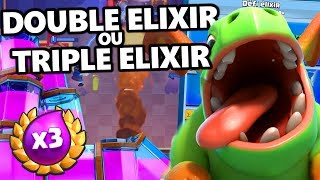 LE DECK DEFI DOUBLE / TRIPLE ELIXIR || Beatdown Golem