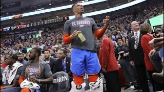 "Russell Westbrook and Utah Jazz fans again. ""I'll f*ck you up. You and your wife,"""