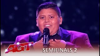 Luke Islam: 12-Year-Old Singer Pulls Out His BEST Performance Yet! | America's Got Talent 2019