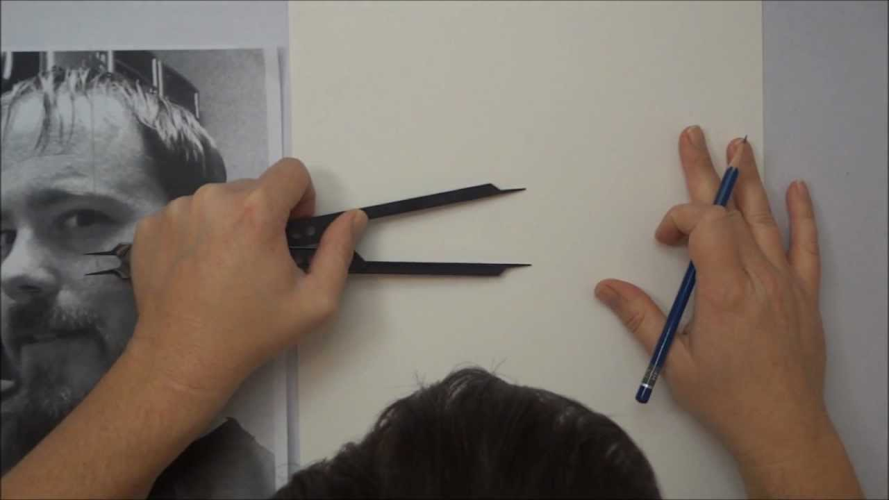 Portrait Drawing for Beginners -- Part 1 -- The Layout ...  Portrait Drawin...
