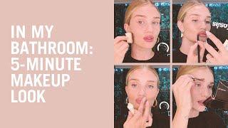 Rosie Huntington-Whiteley's five-minute makeup look