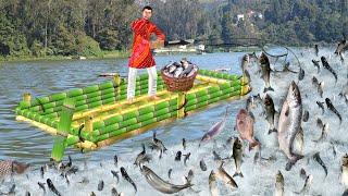 बांस की नाव मछली पकड़ना Bamboo Boat Fishing Comedy Video हिंदी कहानियां Hindi Kahaniya Comedy Video
