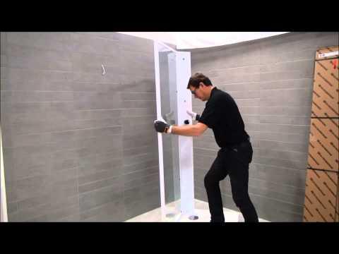 Duschkabin video -- montering av vår Fasett duschkabin | Svedbergs