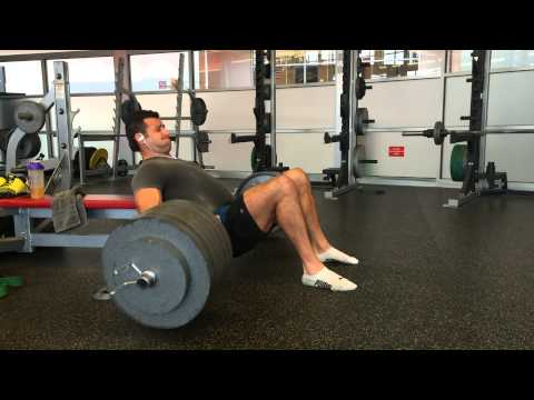 BJ Gaddour Hip Thrusts 635 lbs for 5 sets of 3 reps