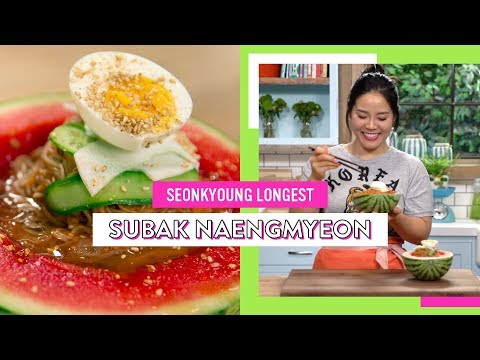 Cold Noodles in Watermelon // Subak Naengmyeon | Seonkyoung Longest