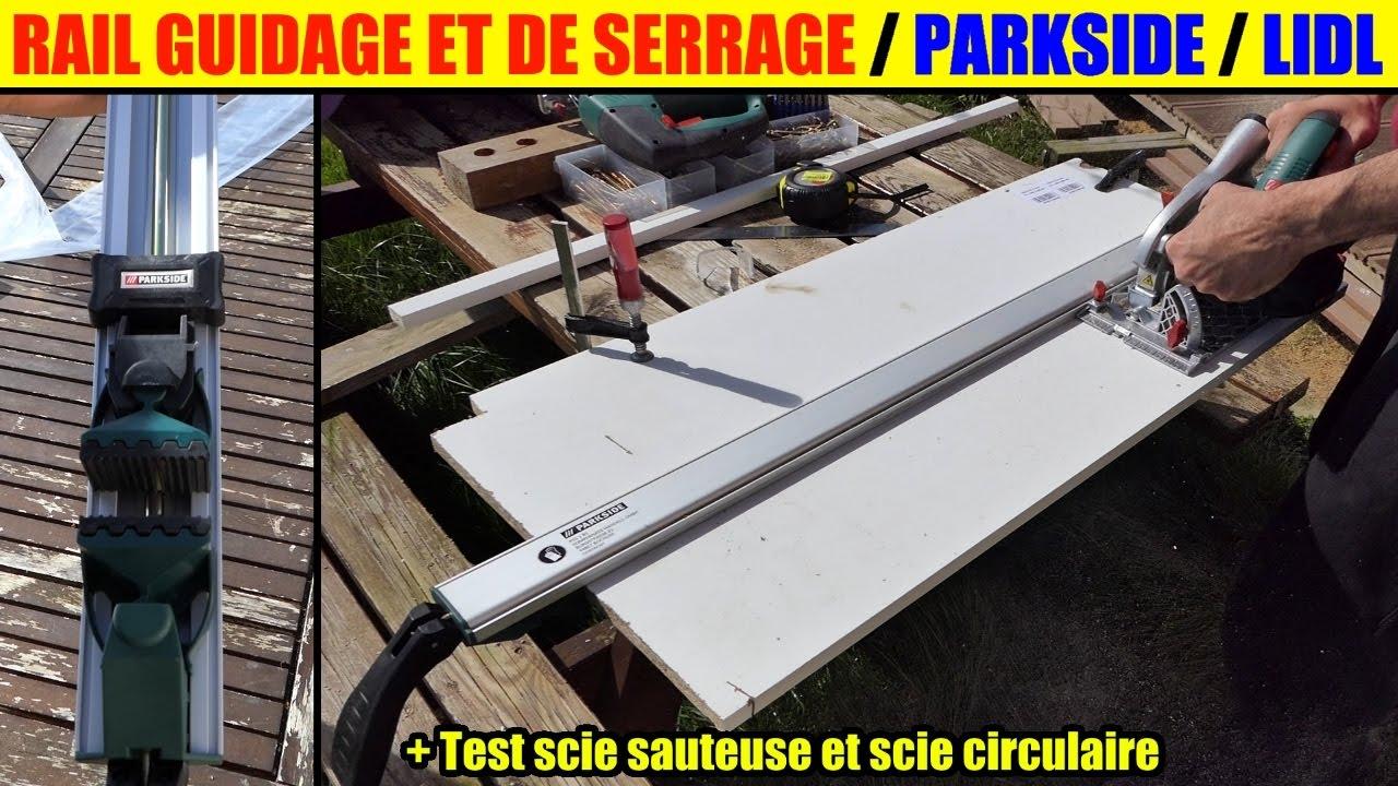 Rail Guidage Serrage Lidl Parkside Couper Droit Scie Circulaire Sauteuse Clamping Sawing Guide Rail