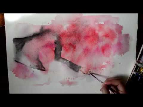 Speed Up Watercolor Painting - Help I'm Alive