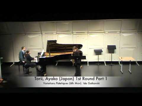 Torii, Ayako (Japon) 1st Round Part 1