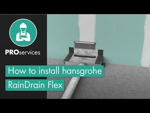 How to install hansgrohe RainDrain Flex