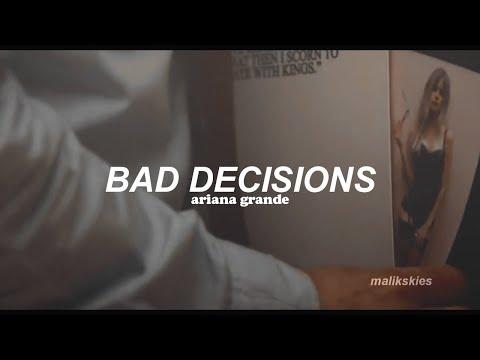 Ariana Grande - Bad Decisions (Traducida al español)