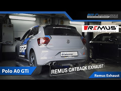 Sound @RemusInnovation Catback Exhaust VW Polo A0 GTi 2.0 TSi 200 Hp By BR-Performance