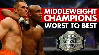 Every UFC Middleweight Champion Ranked Worst to Best