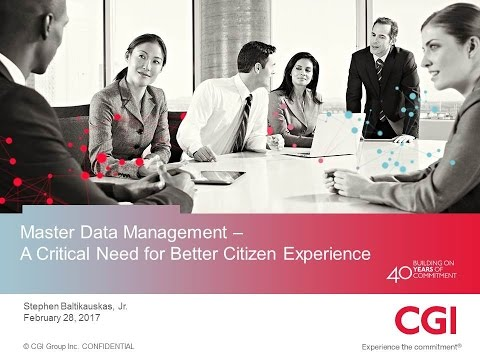 GYI2017 Sn18a: Master Data Management A Critical Need for Better - CGI