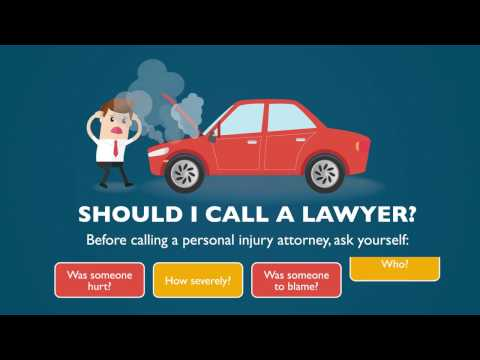 Car Accidents: When to Call a Personal Injury Lawyer