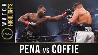 Pena vs Coffie HIGHLIGHTS: August 8, 2020 | PBC on FS1