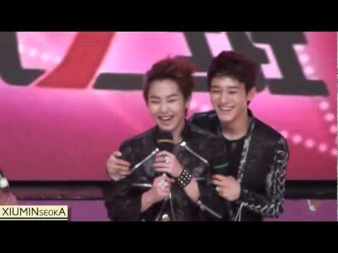 [Fancam] 120627 EXO-M Xiumin  Chen Speak Chinese at Extremely Extraordinary