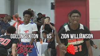 Zion Williamson vs Collin Sexton!!! Footage From Before They BLEW Up! IndiHoops TipOff 2016