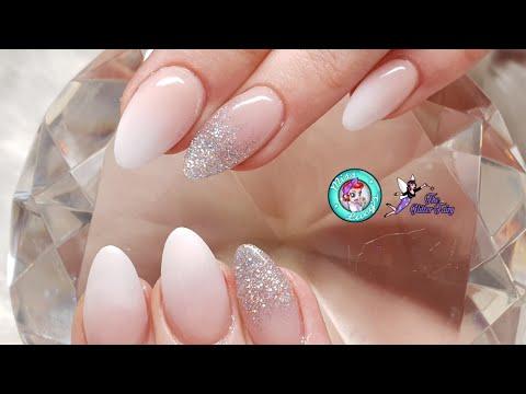 Ombre Acrylic & Glitter Fade