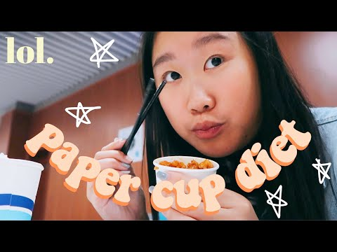 🥑i tried the paper cup diet ! // kpop idol diet