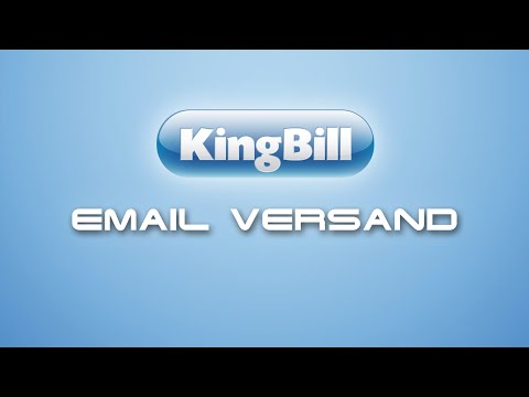 eMail Versand Konfiguration in KingBill