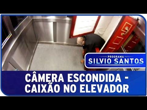 Caixão no Elevador - Pegadinha - Programa Silvio Santos