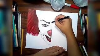 Speed Draw Pennywise Clown/1990 vs 2017