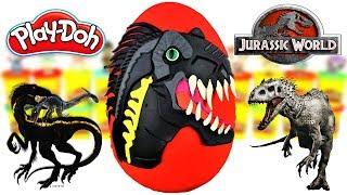 Huevo Sorpresa Gigante de Indoraptor de Jurassic World 2 el Reino Caido Plastilina Play doh Español