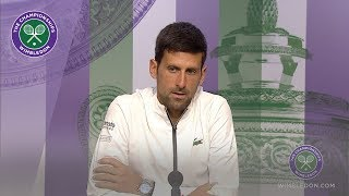 Novak Djokovic Semi-Final Press Conference Wimbledon 2019