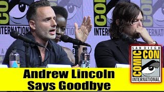 Andrew Lincoln Announces He's Leaving WALKING DEAD This Season  | Comic Con 2018